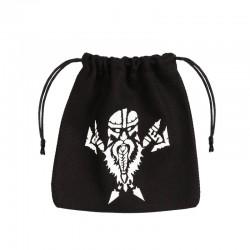QW - dice bag dwarven black & white