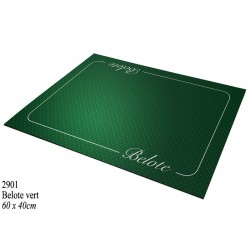 Tapis Belote Coeur de Pique Excellence Vert ( 40 X 60cm)