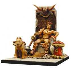 Roi Barbare sur trone