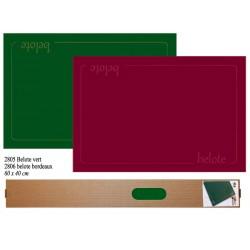 Tapis belote Coeur de Pique Vert 40 X 60cm