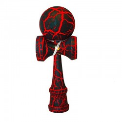 Kendama Crackle Rouge Boule 6 cm