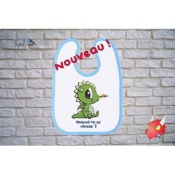 """Bavoir bébé """"Petit Dragon"""", pour les joueurs en devenir, by Style2Geek"""