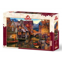 Puzzle 2000 Pièces Canal Boats
