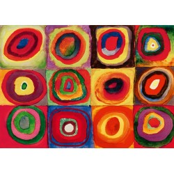 Puzzle 1000 Pièces Kandinsky - Colour Study, 1913