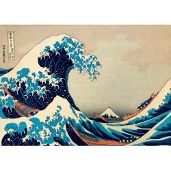 Puzzle 1000 Pièces Hokusai - The Great Wave off Kanagawa, 1831