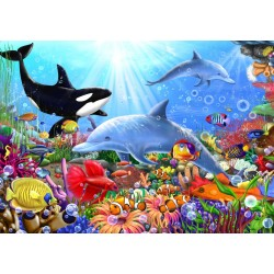 Puzzle 1500 Pièces Bright Undersea World