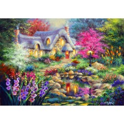 Puzzle 1500 Pièces Cottage Pond