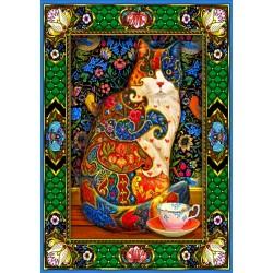 Puzzle 1500 Pièces Painted Cat