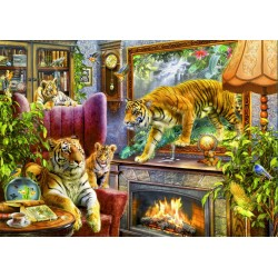 Puzzle 2000 Pièces Tigers Coming to Life