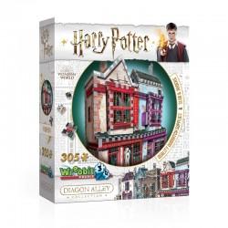 Puzzle 3D - Harry Potter (TM) - Magasin d'Accessoires de Quidditch et Slug & Jiggers 305 Pièces