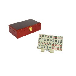 Petit mahjong boite bois