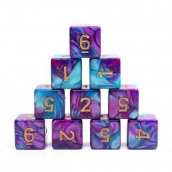 (Blue+Bright Purple) Blend-D6 sets