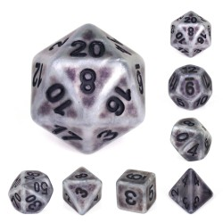 Silver Ancient dice