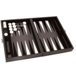 Backgammon Prestige 30cm Gris
