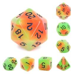(Orange+Green) Glow in the dark dice