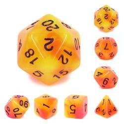 (Orange+Red) Glow in the dark dice
