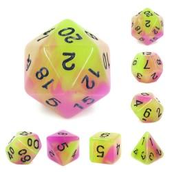 (Purple+Green) Glow in the dark dice
