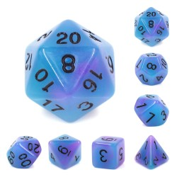 (Blue+Purple) Glow in the dark dice
