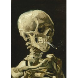 Puzzle 1000 pièces Vincent Van Gogh - Head of a Skeleton with a Burning Cigarette, 1886