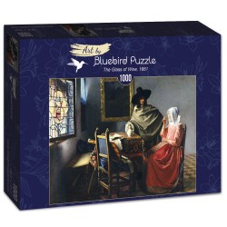 Puzzle 1000 pièces Johannes Vermeer - The Glass of Wine, 1661