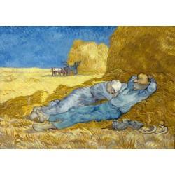 Puzzle 1000 pièces Vincent Van Gogh - The siesta (after Millet), 1890