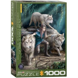Puzzle 1000 pièces Anne Stokes - The Power of Three