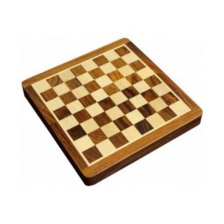 Coffret patiné. échecs magnétique 25 cm
