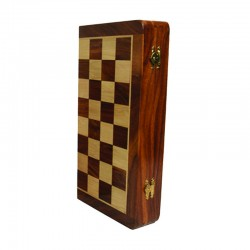 Coffret patiné. échecs magnétique 30 cm